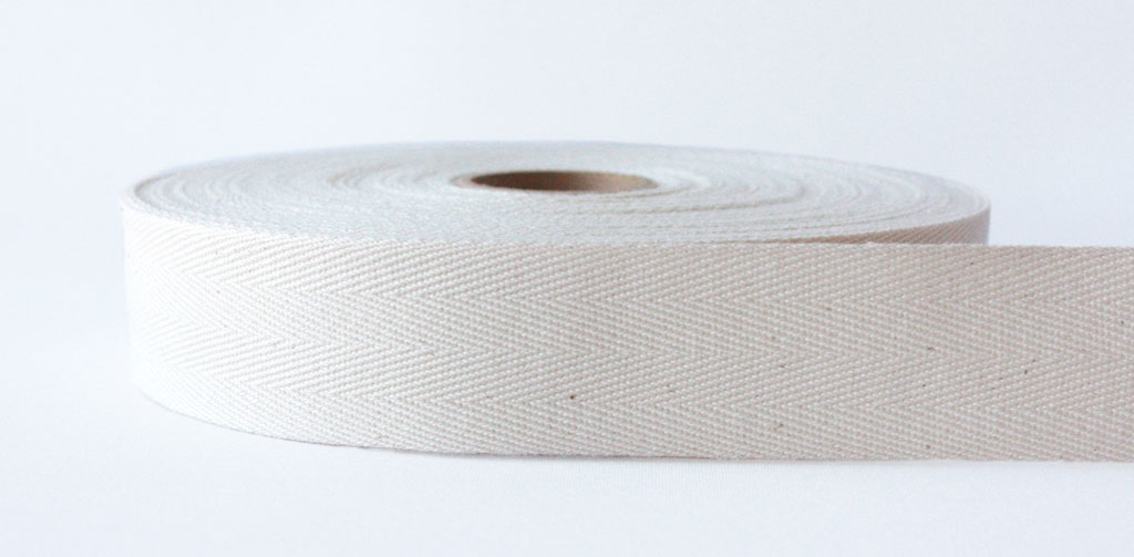 Natural Herringbone Cotton Tape