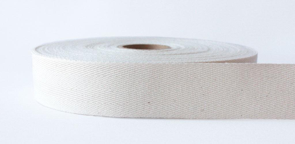Natural Herringbone Cotton Tape