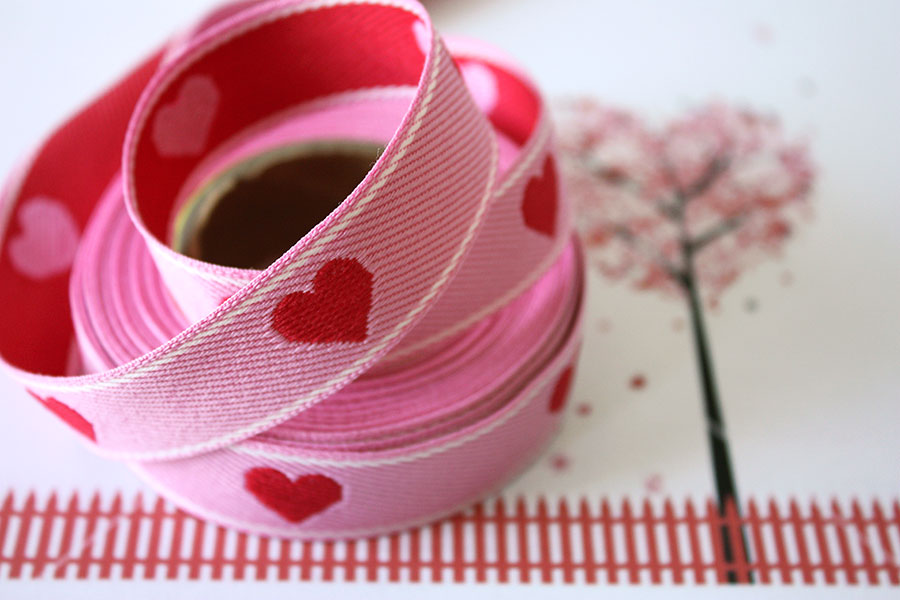 Weavewell Ribbons - Pink Hearts