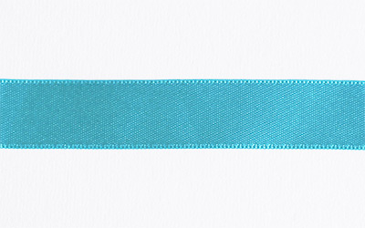 Double Sided Satin – Cyan