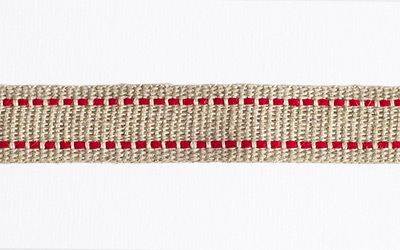 Flax Saddle Stitch – Natural / Red