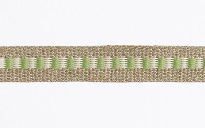 13mm flax laddered - natural / fern - Weavewell