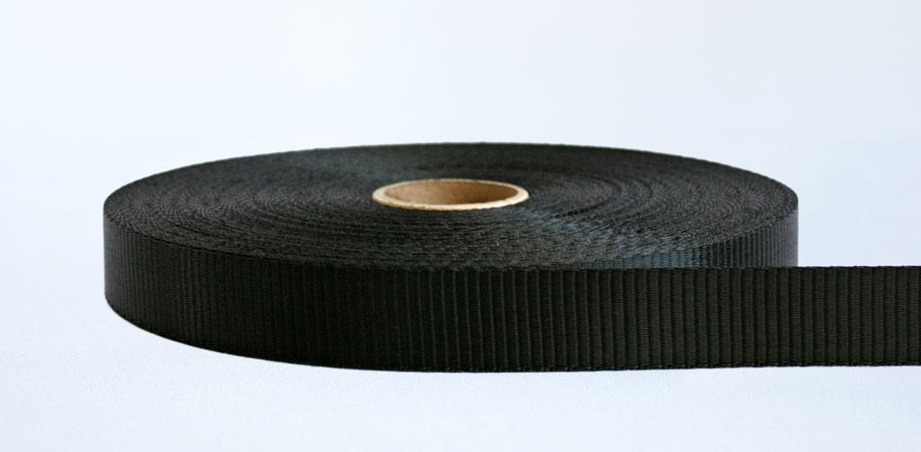 25mm-1.2 Ton Industrial Webbing Black - Weavewell