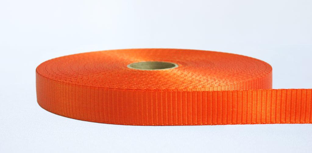 25mm-1.2 Ton Industrial Webbing Orange - Weavewell