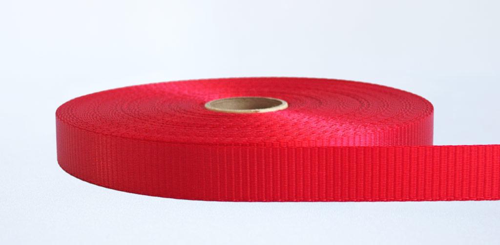 25mm-1.2 Ton Industrial Webbing Red - Weavewell
