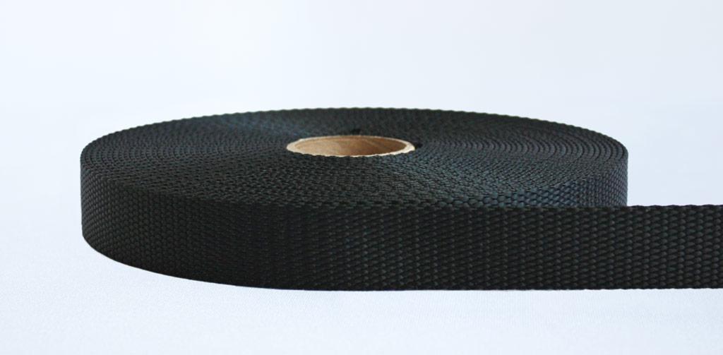 25mm-2 Ton Industrial Webbing Black - Weavewell