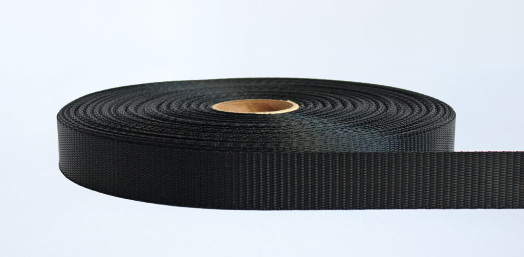 25mm-700kg Industrial Webbing Black - Weavewell