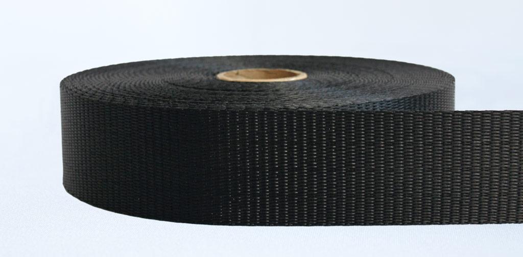 50mm-3 Ton Industrial Webbing Pigment Black - Weavewell