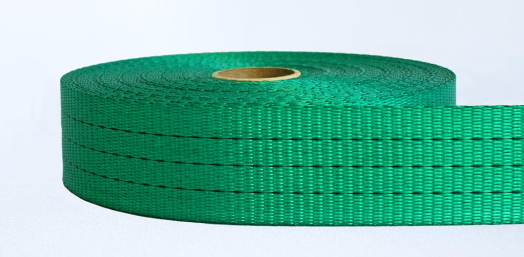 50mm-3 Ton Industrial Webbing Pigment Green - Weavewell