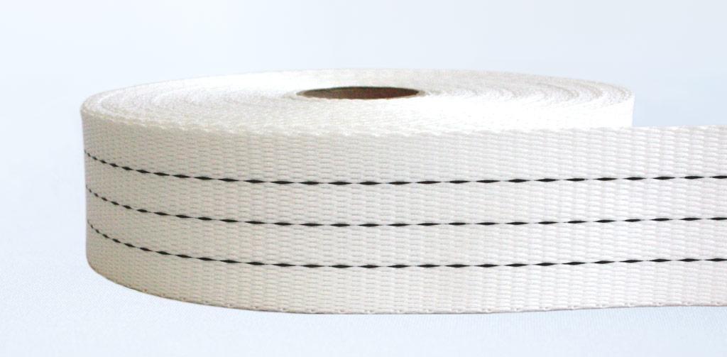 50mm-3 Ton Industrial Webbing Stiff White - Weavewell