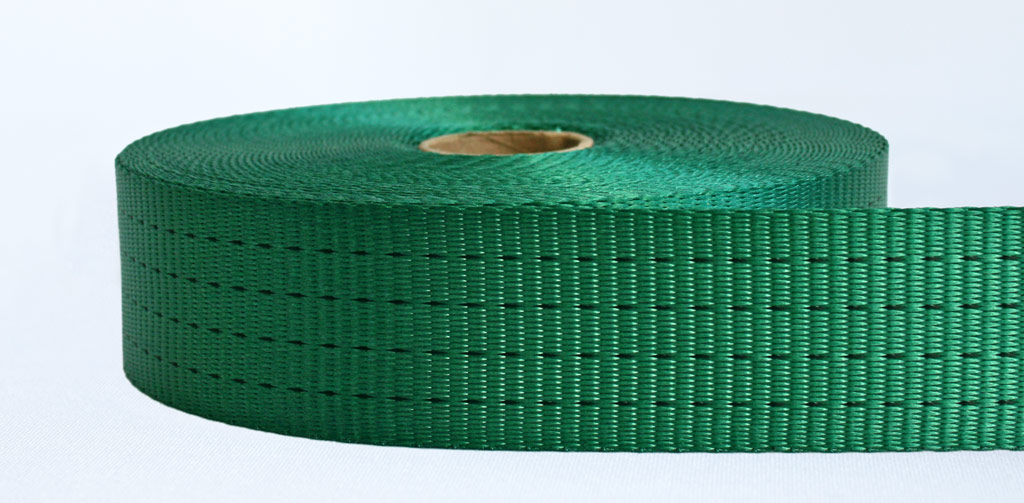 50mm-4 Ton Industrial Webbing Green - Weavewell