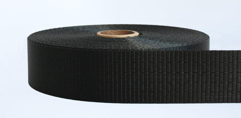 50mm-4 Ton Industrial Webbing Pigment Black - Weavewell
