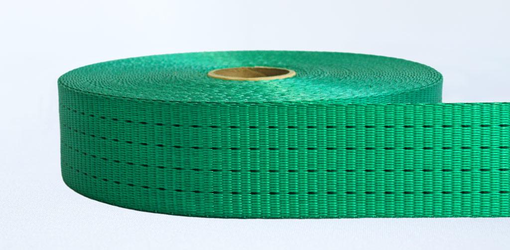 50mm-4 Ton Industrial Webbing Pigment Green - Weavewell
