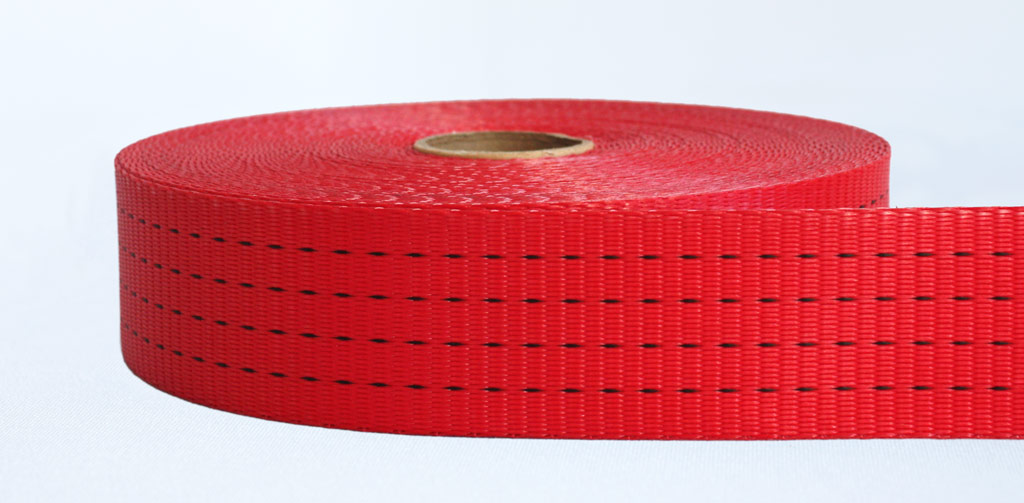 50mm-4 Ton Industrial Webbing Pigment Red - Weavewell
