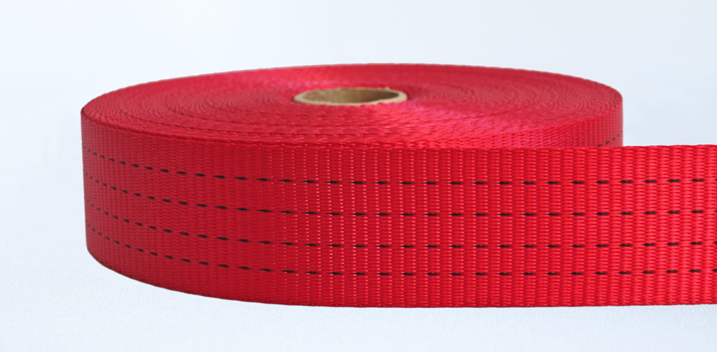 50mm-4 Ton Industrial Webbing Red - Weavewell