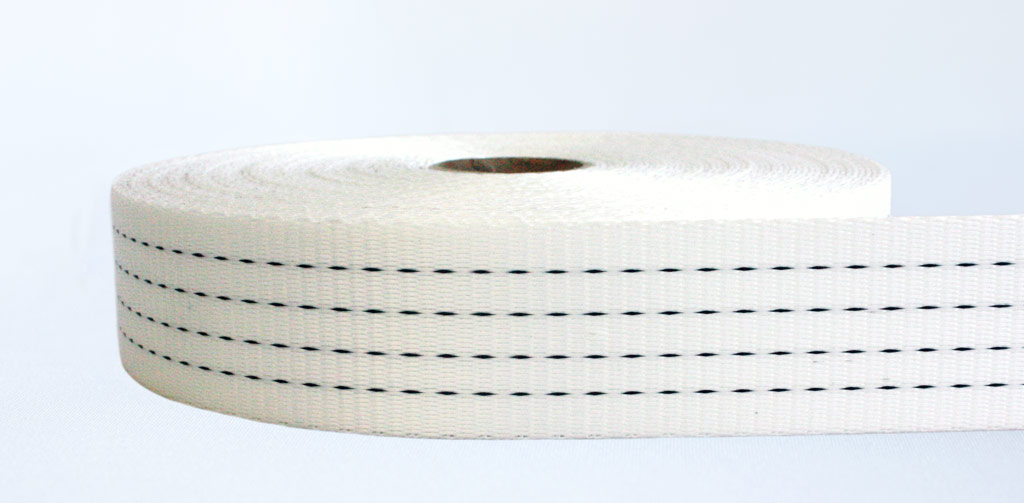 50mm-4 Ton Industrial Webbing Stiff White Natural - Weavewell