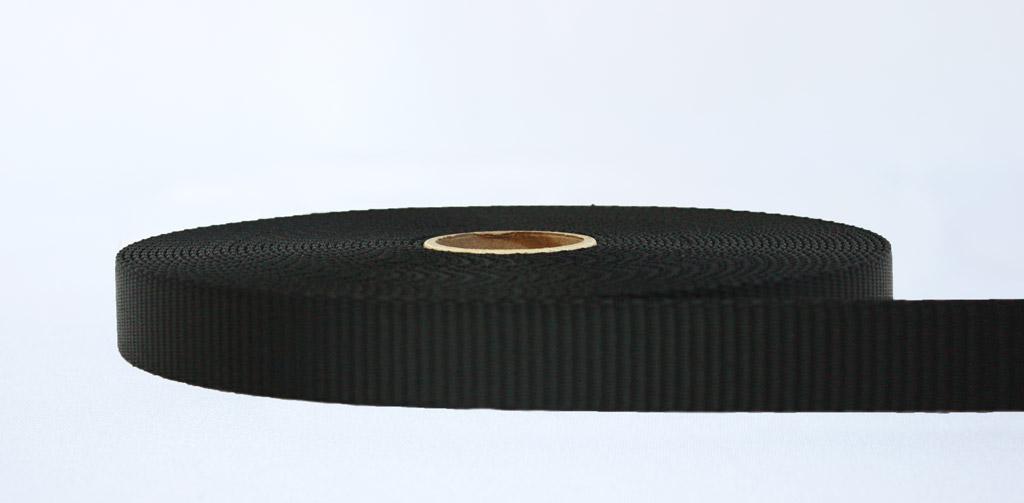 25mm-2.5 Ton Industrial Webbing Black - Weavewell