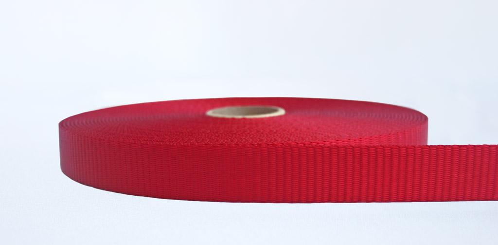 25mm-2.5 Ton Industrial Webbing Red - Weavewell