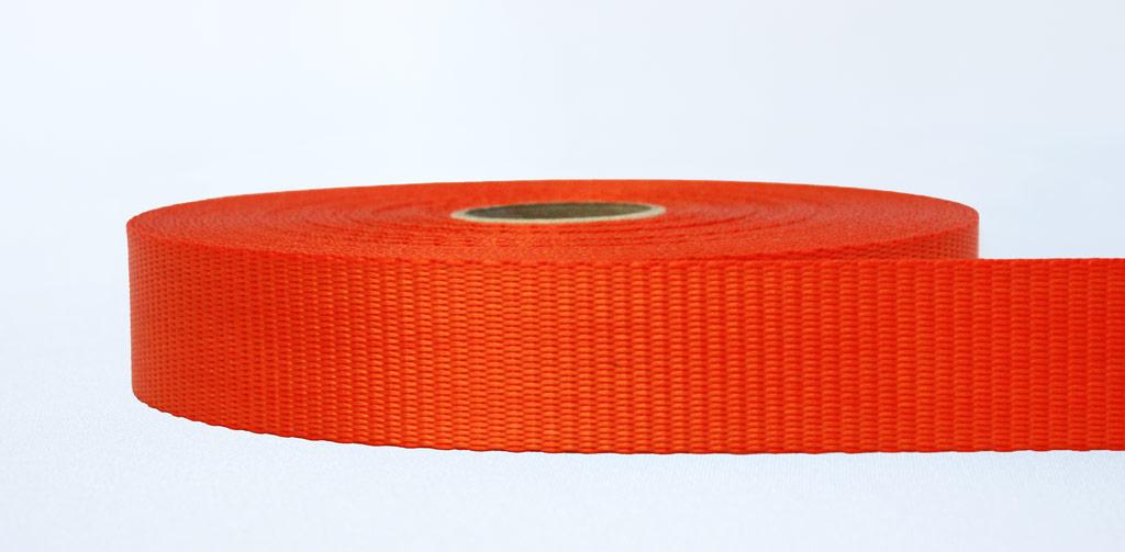 35mm-2.5 Ton Industrial Webbing Orange - Weavewell