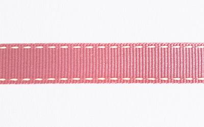 Petersham Saddle Stitch – Sugar Pink / Light Cream