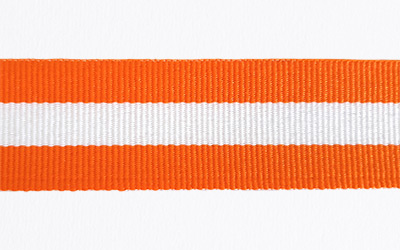 Petersham Striped – Orange / White
