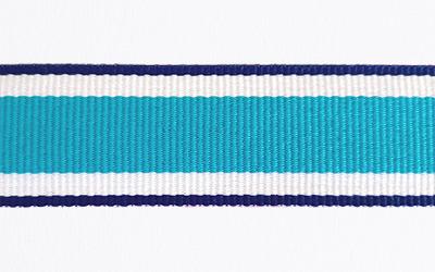 Petersham Striped – Royal / White / Cyan