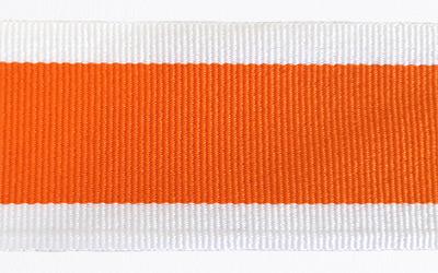Petersham Striped – White / Orange