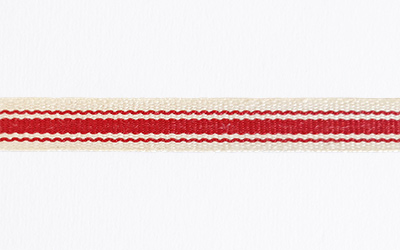 Cotton Striped – Natural / Red