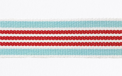 Cotton/Poly. Striped – White / Inca / Red